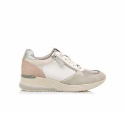 Zapatillas 60027 blanco -Altura cuña: 4,5 cm-
