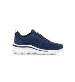 Zapatillas Somo azul-Altura cuña: 5,5 cm-