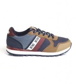 Zapatillas 48161 azul, marrón