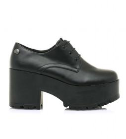 Zapatos Sonya negro -altura tacón+plataforma: 8cm-