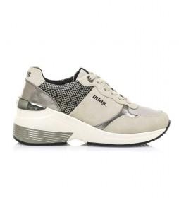 Zapatillas Amby blanco roto -Altura cuña: 7,5 cm-