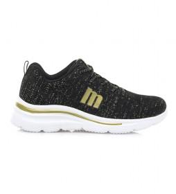 Zapatillas Somo negro -Altura cuña: 5,5 cm-