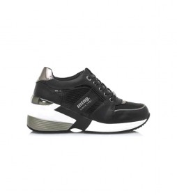 Zapatillas Amby negro -Altura cuña: 7,5 cm-