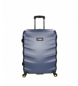 Trolley mediana Arete azul -48x27x67cm-