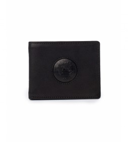 Billetero de piel Rain negro -2x10,5x8cm-