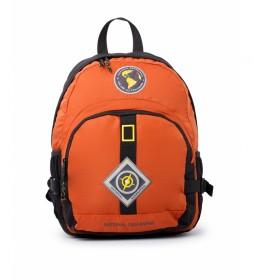 Mochila New Explorer naranja -31x15x40cm-