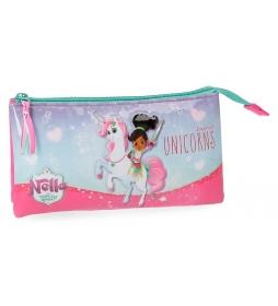 Neceser Nella Unicorn 3 compartimentos -12x22x5 cm-