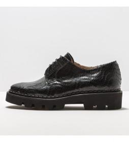 Zapatos de piel S3160 Blaver negro