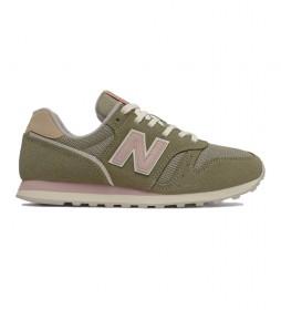 Zapatillas de piel 373v2 Essentials verde