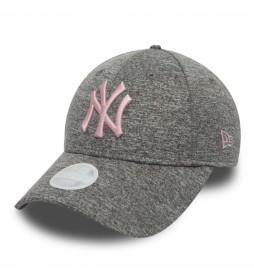 Gorra New York Yankees Essential 9Forty gris, rosa