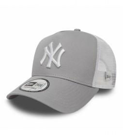 Gorra Trucker New York Yankees Clean A-Frame gris