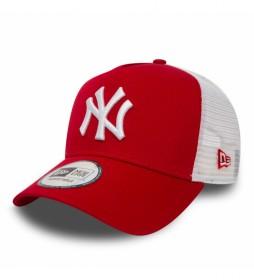 Gorra Trucker New York Yankees Clean A-Frame rojo