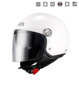 Nzi Capital Duo White jet helmet white