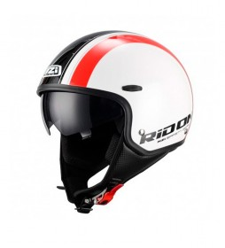 Nzi Casco jet Capital Sun Stred blanco