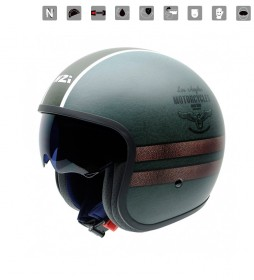 Nzi Jet helmet Rolling II Duo Los Angeles green