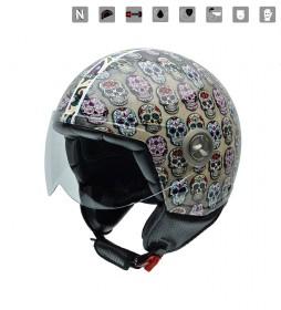 Nzi Jet helmet Zeta Graphics Mexican Skulls multicolor