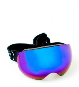 Ocean Sunglasses Black Arlberg snow glasses with blue revo glass