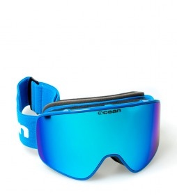 Ocean Sunglasses Aspen blue snow glasses with blue revo glass