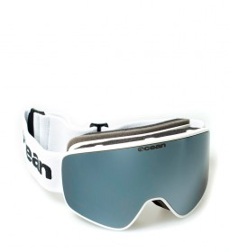 Ocean Sunglasses Aspen white snow glasses with gray revo glass
