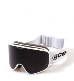 Ocean Sunglasses Aspen white snow glasses with smoke glass