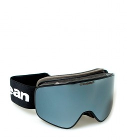 Ocean Sunglasses Aspen black snow glasses with gray revo glass