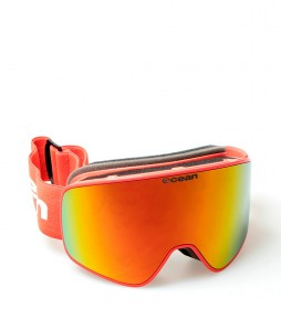Ocean Sunglasses Aspen red snow glasses with red revo glass