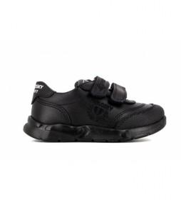 Zapatillas de piel 277910 negro