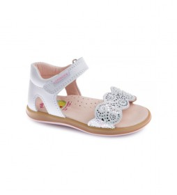 Sandalias de piel Asterix blanco