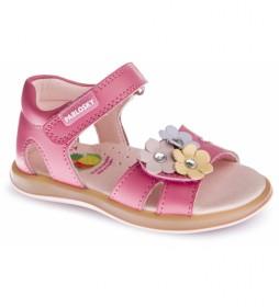 Sandalias de piel Asterix rosa