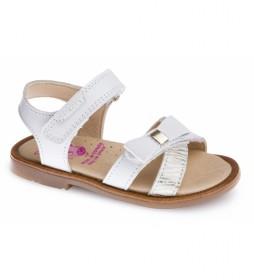 Sandalias de piel Celia blanco