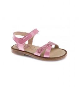 Sandalias de piel Celia Charol rosa