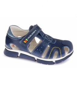 Sandalias de piel Japón marino