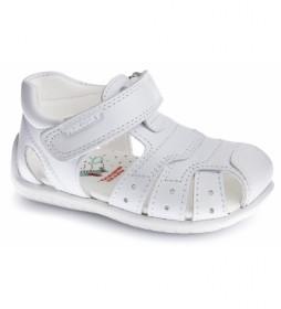 Sandalias de piel Kenia blanco