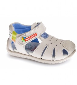 Sandalias de piel Kenia beige