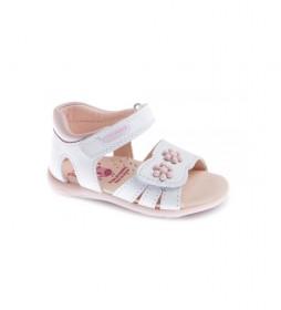 Sandalias de piel Kim blanco
