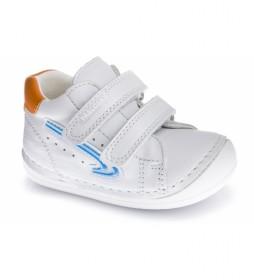 Zapatillas de piel Konor blanco