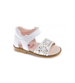 Sandalias de piel Kuki blanco
