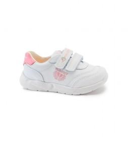 Zapatillas de piel Xemit blanco, rosa