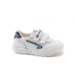 Zapatillas de piel Xemit 278102 blanco, marino
