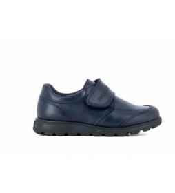 Zapatos de piel 334520 azul marino