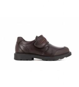 Zapatos de piel 715490 marrón