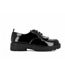 Zapatos de piel Paola 862619 negro
