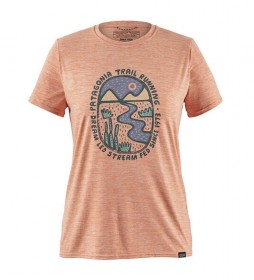 Patagonia Cool Graphic orange t-shirt / MiDori / UPF 50+ / 105g