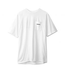 Camiseta Men's P-6 Logo Pocket Responsibili-Tee blanco