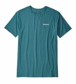 Patagonia T-shirt P-6 Organic Logo dark turquo / 187g