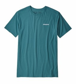 Patagonia T-shirt P-6 Organic Logotipo turquesa escura / 187g