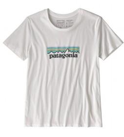 Patagonia Camiseta Patagonia Logo blanco