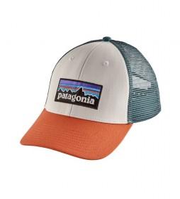 Patagonia Cap P-6 Logo LoPro Trucker white, orange, turquoise / 85g