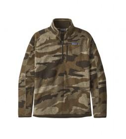 Jersey de Forro Polar con Cremallera 1/4 camuflaje marrón /bluesign®/
