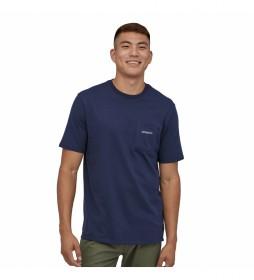 Camiseta Men's Line Logo Ridge Pocket Responsibili-Tee marino